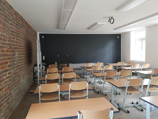 Schulungsraum mit Tafelwand
